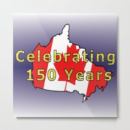 150th Birthday (Glitter) Metal Print
