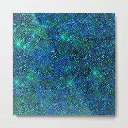 Stars Glitter Sparkles Metal Print