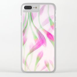 Agapanthus in Pink Clear iPhone Case