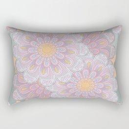 Zinnia Mandala greyed Rectangular Pillow