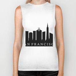 san francisco skyline Biker Tank