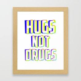 Hugs Not Drugs TV Glitch Effect - Anti-Drug Awareness Gift Framed Art Print