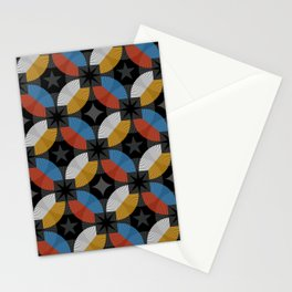 Lovely abstract hand drawn vintage geometric illustration pattern Stationery Cards