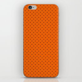 Bright Halloween Orange & Black Polka Dot Pattern iPhone Skin