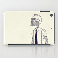 hipster iPad Cases featuring The Gentleman becomes a Hipster  by Mike Koubou