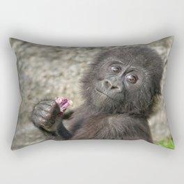 Cute Baby Gorilla Rectangular Pillow