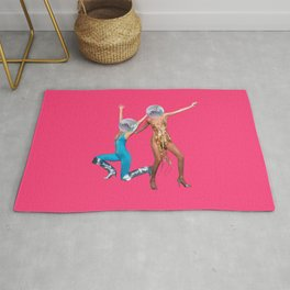 party people pink Rug