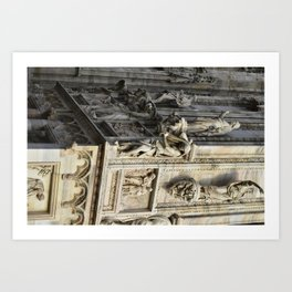 Milan Cathedral / Exterior Sculpture Study #4 / Piazza Duomo - Italy Art Print
