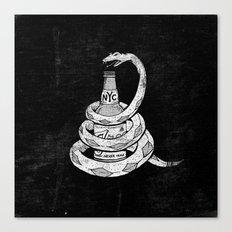 Don't Tread on My Booze Canvas Print