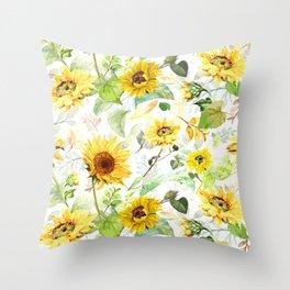 Sunflower Light 1 Throw Pillow