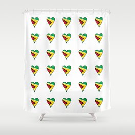 Flag of Guyana 2  -Guyanese,Guyanes,Georgetown,Linden,Waiwai Shower Curtain