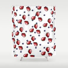 Berry Fields Shower Curtain