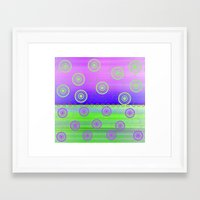 circles Framed Art Prints featuring Circles by Fine Art by Rina