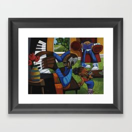 JAMMIN WITH UNCLE BOB Framed Art Print