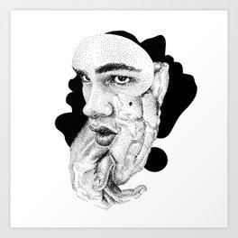 Daniel Collage - Nooddood Art Print