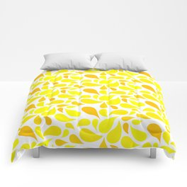 Blossom pattern Yellow Comforters