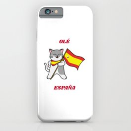 Ole Espana Spanish Cat iPhone Case