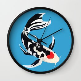 Geo Koi Black & White Wall Clock
