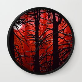 September in the boreal forest Wall Clock