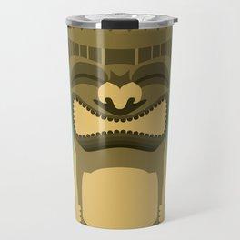 Brown Tiki Travel Mug