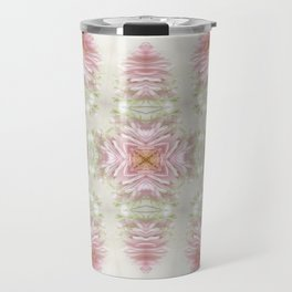 Pink Chrysanthemums Kaleidoscope Art 1 Travel Mug