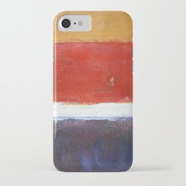 Mark Rothko Interpretation Acrylics On Paper iPhone Case