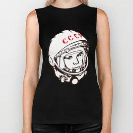 Yuri Gagarin astronaut, cosmonaut, pilot, CCCP, URSS, The first human in space Biker Tank