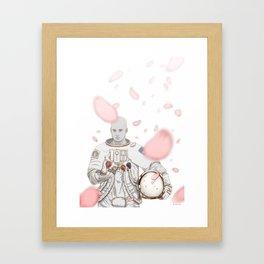 Sakura Spaceman Framed Art Print