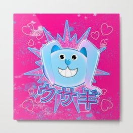 Rabbit in pink and blue! Metal Print