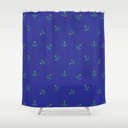 Fun and Whimsical Anchors for Sea Lovers Shower Curtain