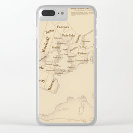 Vintage Style shipping forecast key Clear iPhone Case