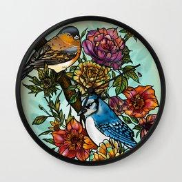 Birdsong by artist Sarah Bliss Rasul Wall Clock
