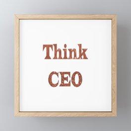 ThinkCEO Framed Mini Art Print