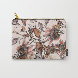 Tropical drawings of pasiflora flowers Carry-All Pouch