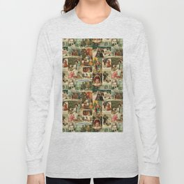 Vintage Victorian Christmas Collage Long Sleeve T-shirt