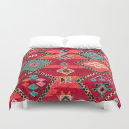 18 - Traditional Colored Epic Anthique Bohemian Moroccan Artwork Duvet Cover