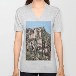 Unusual Rock Formations Near Cine Unisex V-Neck