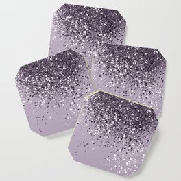 Sparkling Lavender Lady Glitter #2 #shiny #decor #art #society6 Coaster