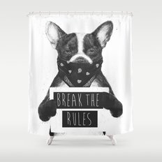 Rebel dog Shower Curtain