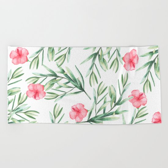 Delicate Hibiscus Beach Towel