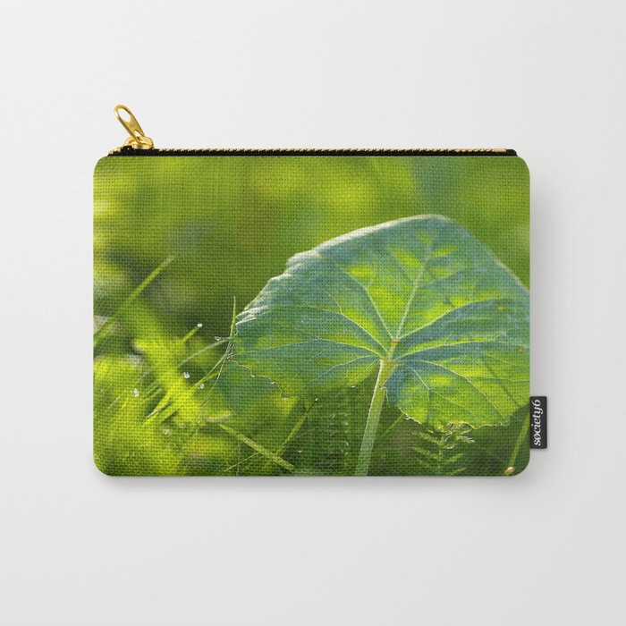 A Pure Green Leaf  Carry-All Pouch