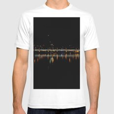 City Lights MEDIUM Mens Fitted Tee White