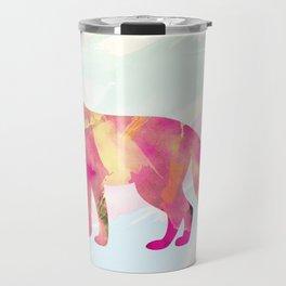 Abstract Fox Travel Mug