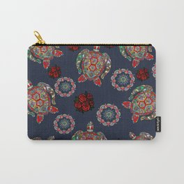 Boho Sea, Turtle Rose Carry-All Pouch
