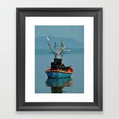 Bird on Boat Framed Art Print