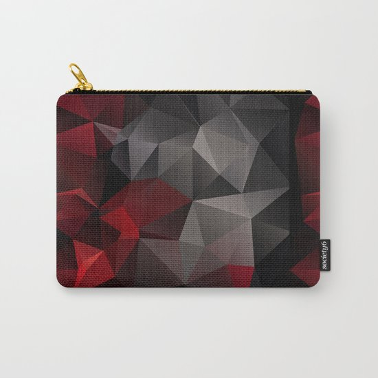 Polygon red black triangles . Carry-All Pouch
