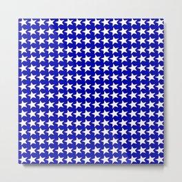 Blue White Stars Design Metal Print