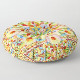 Rainbow Carousel Starburst Floor Pillow