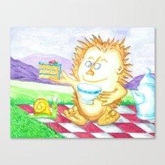 Hedgehog Tea Party Canvas Print