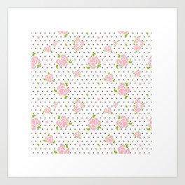 """Roses & Dots"" Art Print"